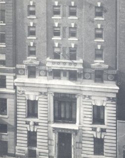 Facade of 30 W. 44th Street building
